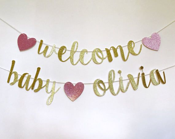 Welcome Baby Banner Welcome Baby Name Banner Welcome Baby Welcome Baby Banner Welcome Baby Signs Baby Girl Banner