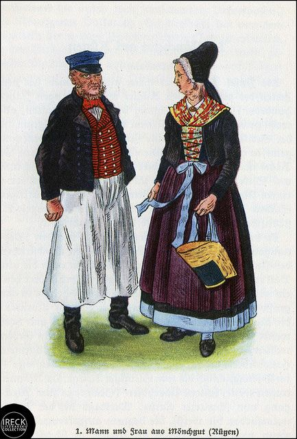 Mann Und Frau Aus Monchgut Rugen Pommern Pomorze Pomerania
