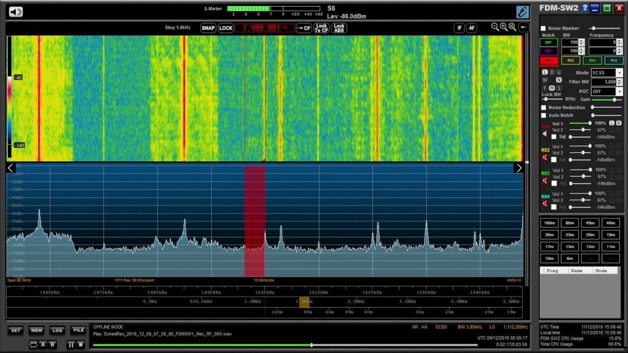 Medium wave DX WFED 1500 kHz, Washington, still clearly