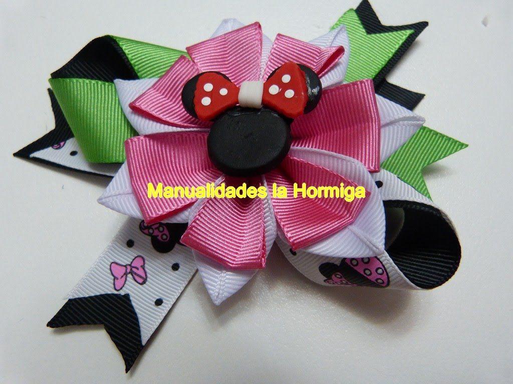 Flores en cinta para decorar lazos mo os accesorios para for Decorar con lazos