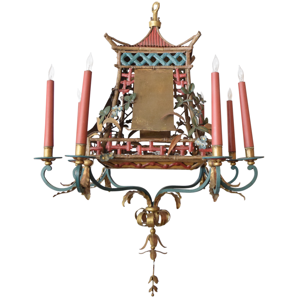 Chinoiserie tole chandelier chinoiserie chandeliers and lights vintage chinoiserie chandelier viyet aloadofball
