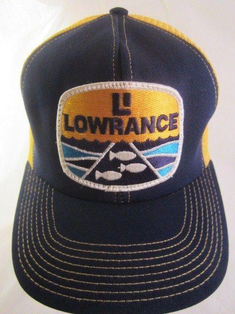 87d0d547d5752 Vintage Lowrance Hat Mesh Snapback Ball Cap Trucker Fish Finder GPS Bass  Fishing  fishingseason  gofishing  fishing