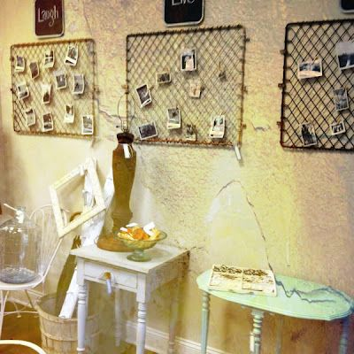 old grates as memory boards at Georgie Emerson Vintage | Wall Decor ...