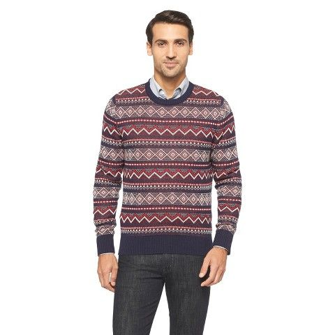 18 Merona Men's Fair Isle Sweater - Navy | CLOTHING - Mens ...