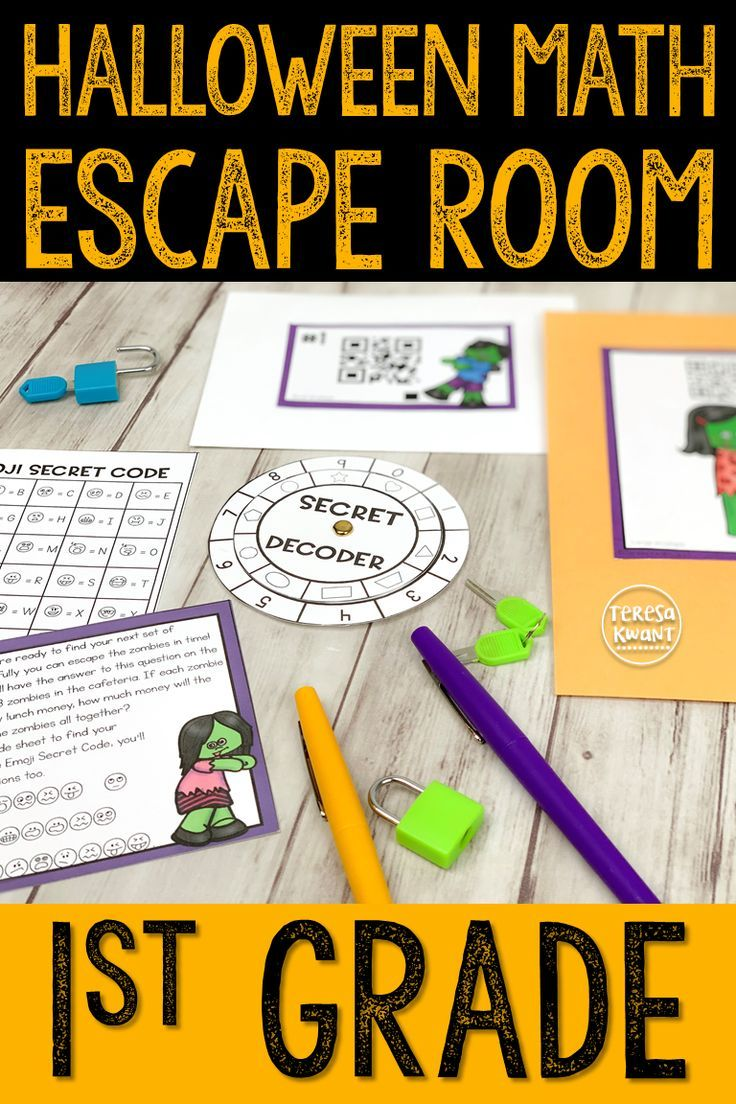 Halloween Escape Room 1st Grade Addition Math Cracking the
