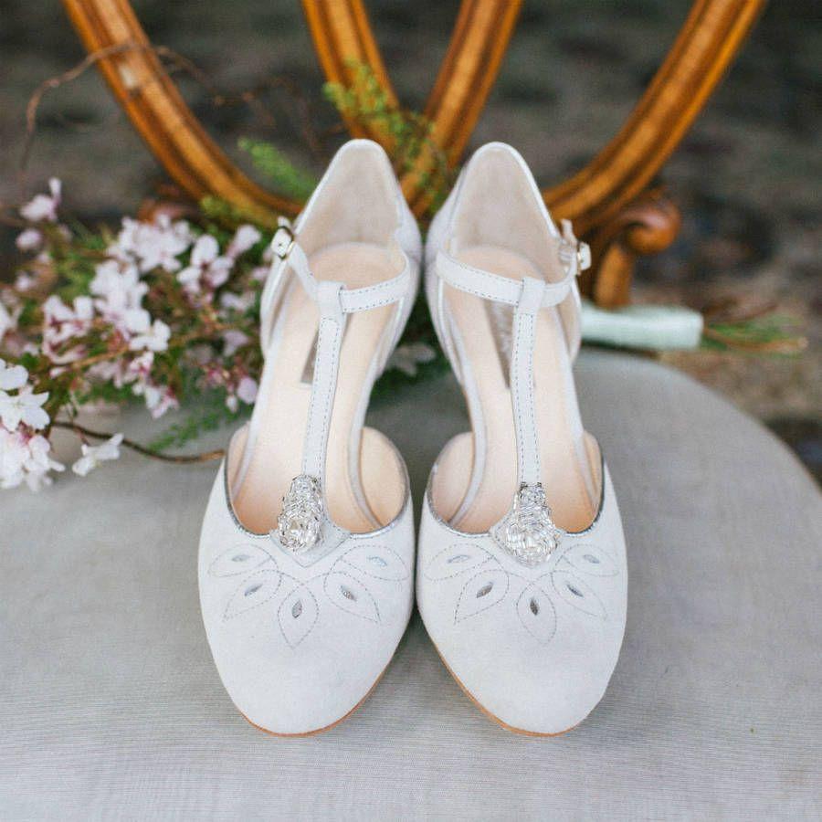 Elo Ivory T Bar Wedding Shoes By Rachel Simpson Notonthehighstreet