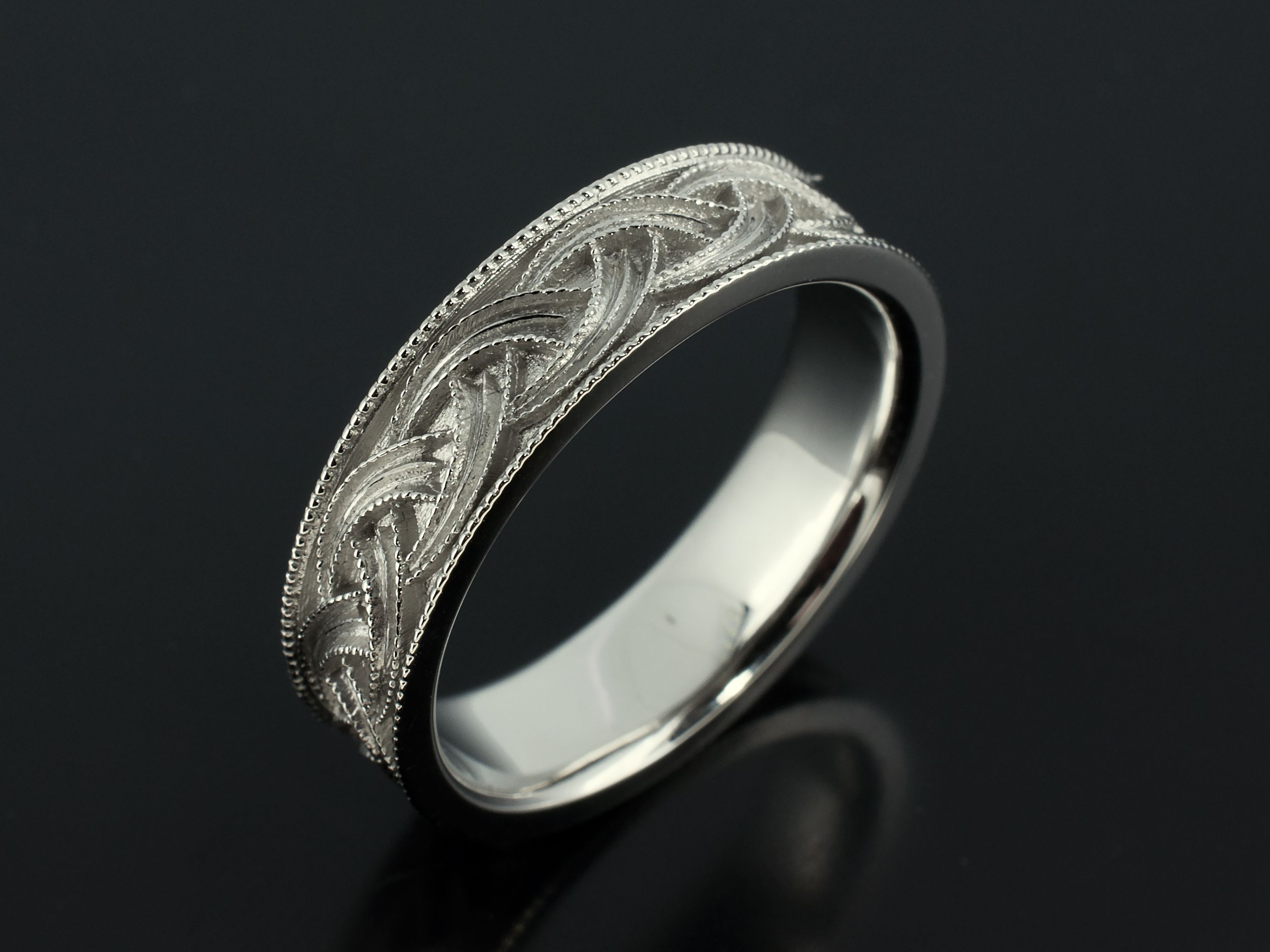 gold diamond filigree engagement in wgrg scrollwork regular with back round ring solitaire tone two bands