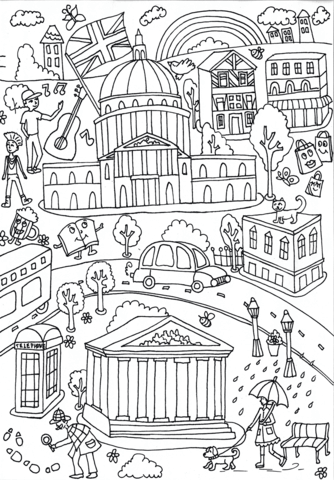 University Of London And British Museum Coloring Page Coloring Pages Free Coloring Pages Christmas Coloring Sheets