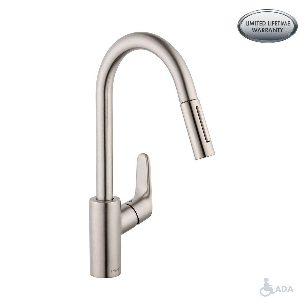 Hansgrohe Focus Premium 1 Handle 16 Inch Tall Stainless Steel