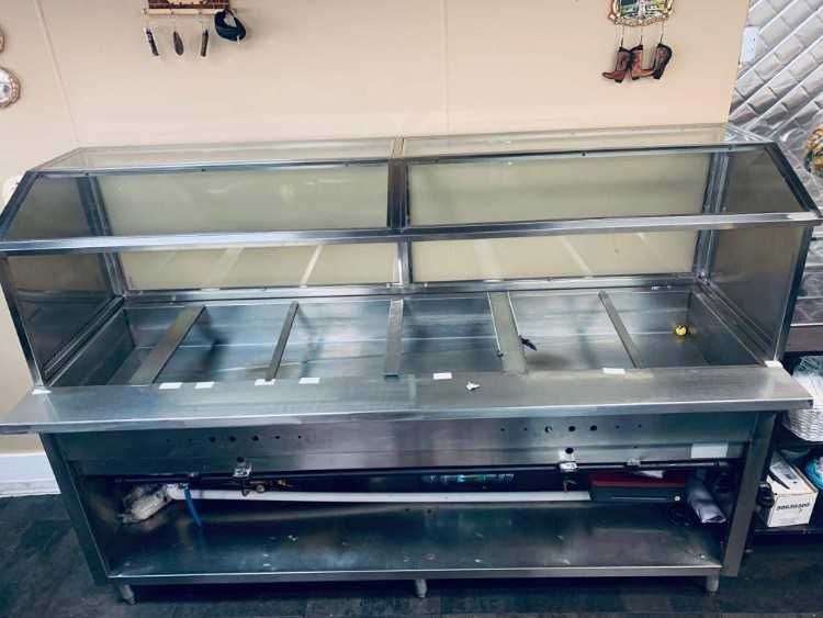 Steam Table For Sale Of 8 Feet Restaurant Equipment Used But Very Good Condition Price Negotiable 0d Steam Tables Restaurant Equipment Kitchen Appliances
