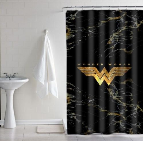 wonder woman logo gold marble luxury