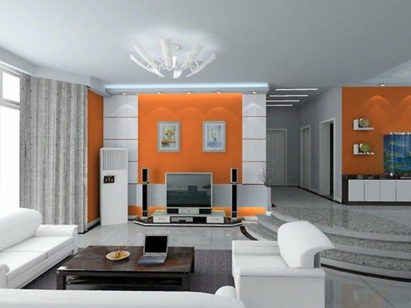 Great Design For The Living Room White Grey Cushion In Orange (600×450)  | Design | Pinterest | Elegant Living Room, Living Room White And Living  Rooms