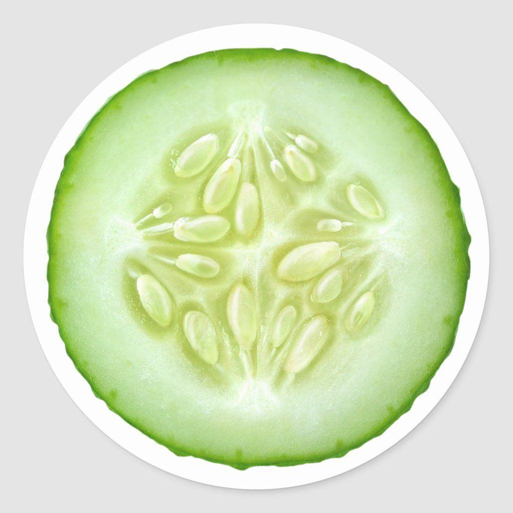 Cucumber Slice Classic Round Sticker Zazzle Com In 2020 Cucumber Healthy Vegetarian Diet Fresh