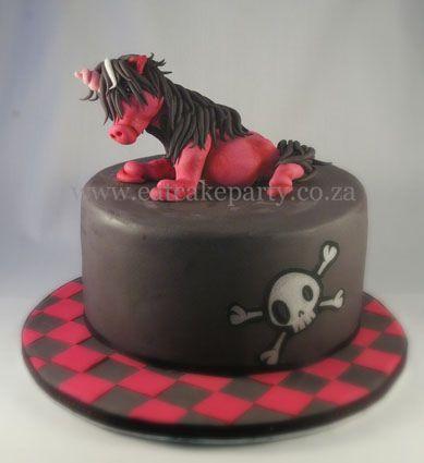 Emo pony cake Pony cake Emo and Cake