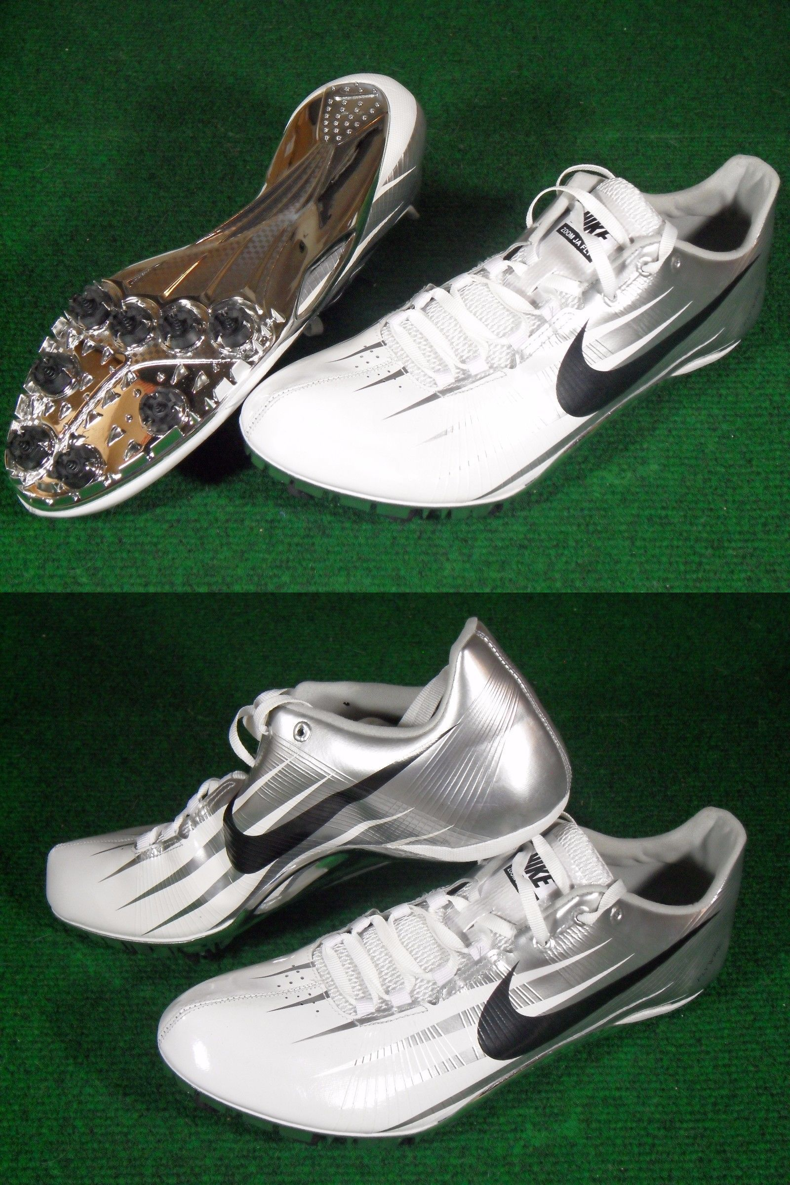 hot sale online b12c0 716bc Track and Field 106981 Mens Nike Ja Fly Track Sprinter Running Spikes  Cleats White Silver Chrome 11.5 - BUY IT NOW ONLY 75 on eBay!