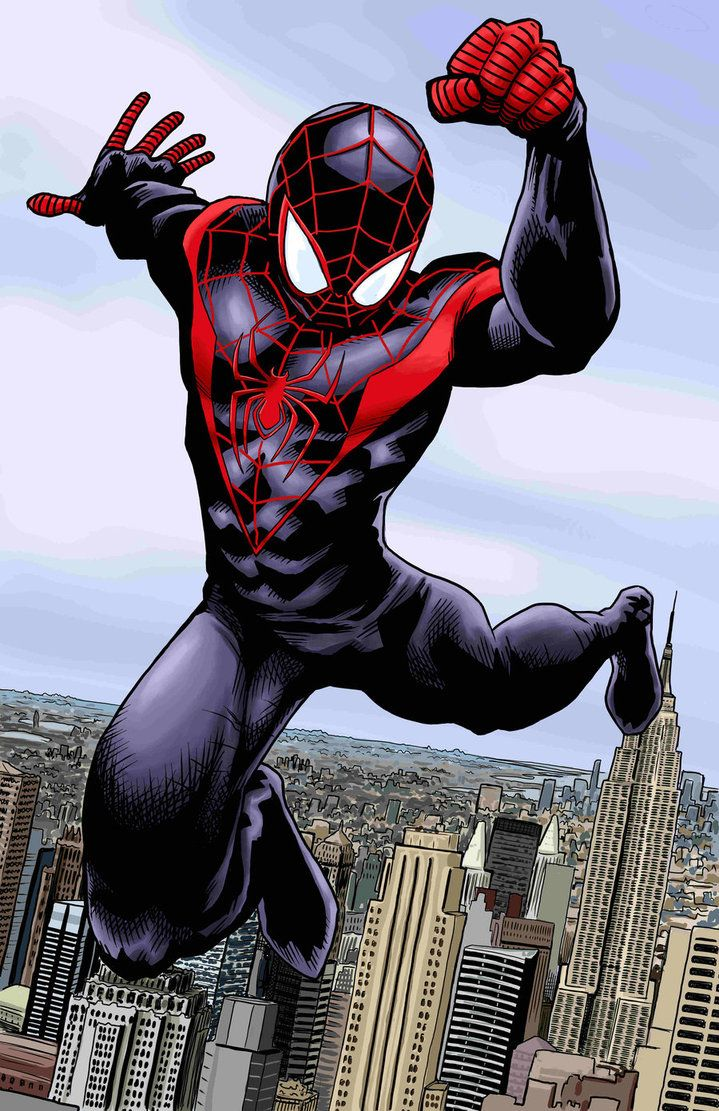 Ultimate Spider Man Color Spiderman Ultimate Spiderman Miles Morales Spiderman