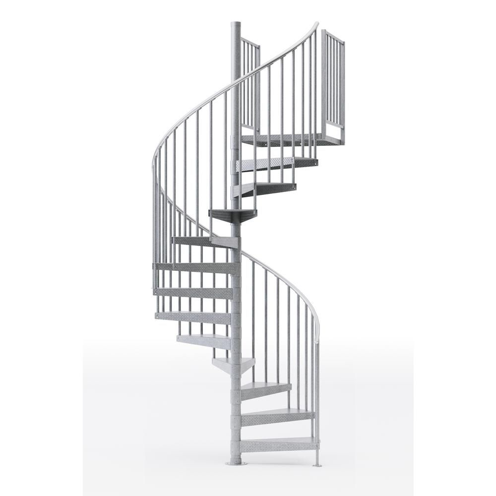 Mylen Stairs Reroute Galvanized 60 In 5 Ft 0 In Wide 11