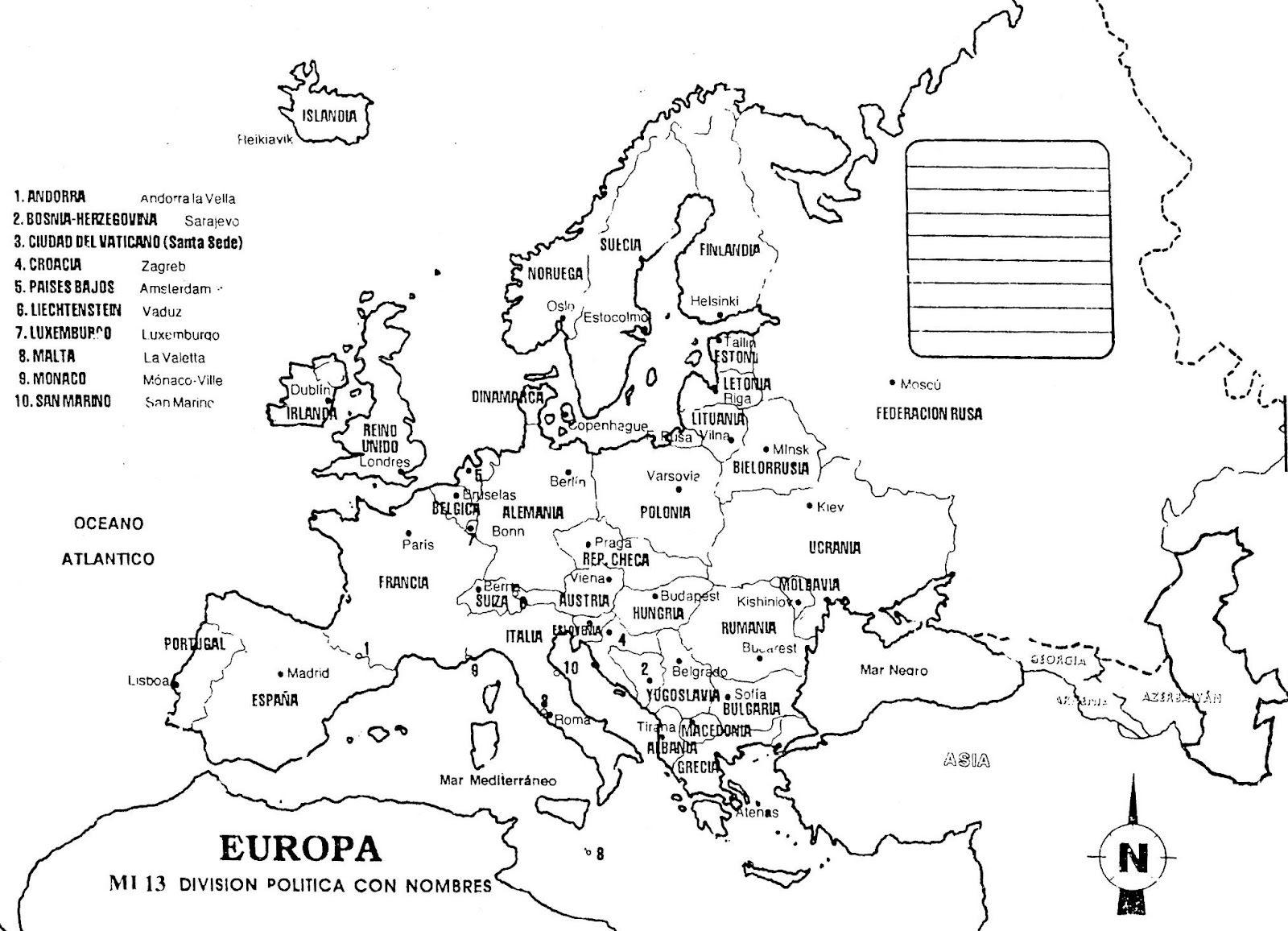 Mapa Da Europa Para Pintar | Mapas | Pinterest | Mapa politico ...