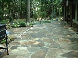 How To Faux Stone A Concrete Outside Floor
