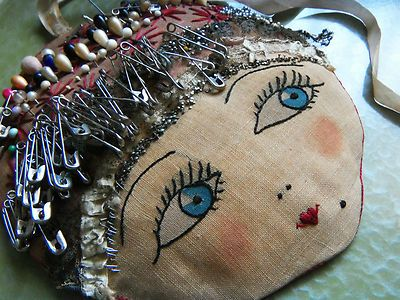 Vintage 1920's Flapper Girl Pin Cushion