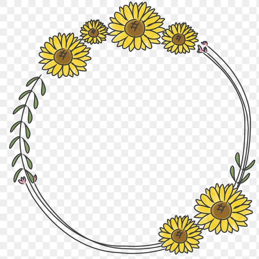 Hand Drawn Sunflower Wreath Transparent Png Free Image By Rawpixel Com Pimmy How To Draw Hands Floral Wreath Drawing Sunflower Drawing
