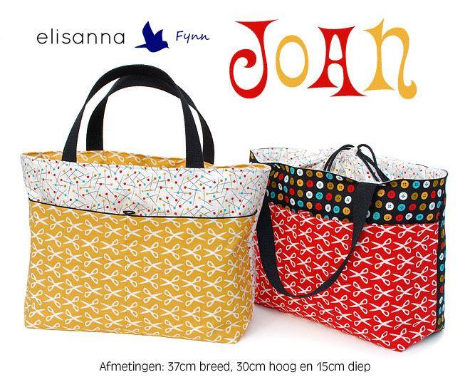 Joan tas (gratis patroon + tutorial) - geschikt als zwembad en voor boodschappen