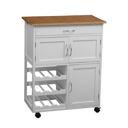 Premier Housewares 2403411 - Carrito de cocina (madera de bambú ...