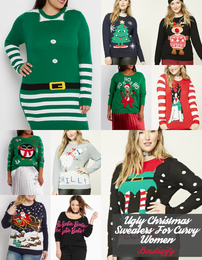 Our Favorite Ugly Christmas Sweaters For Plus Size Women Plus Size