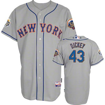 fccd0cf5b0a R.A. Dickey Jersey  Authentic Cool Base™ Road Grey New York Mets Official  2012 All-Star Game Jersey