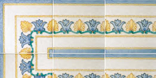 Vietri Antico i classici | un mondo con decori leggeri, colori vividi e smalti brillanti | #vietriantico | festoni