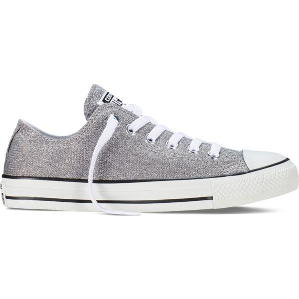 Converse Chuck Taylor All Star Sparkle Knit – grey Sneakers ($60) ❤ liked on