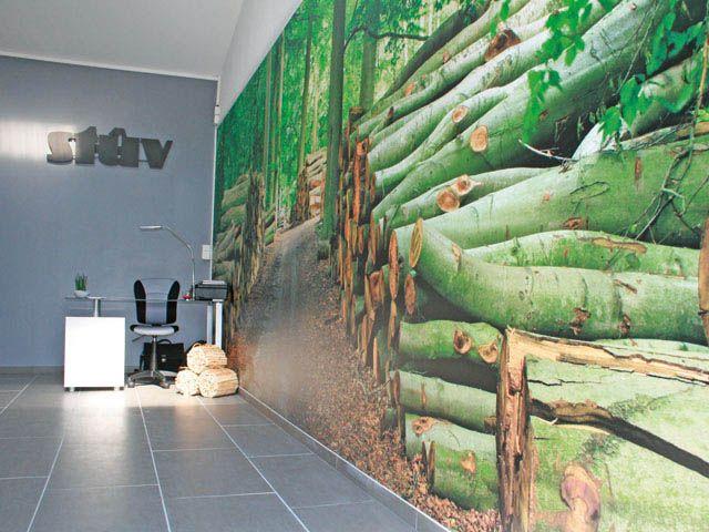 mur tendu imprim d coration int rieure en toile imprim e co con ue 100 recycl e et. Black Bedroom Furniture Sets. Home Design Ideas