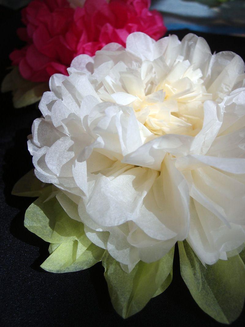 16 Beige Multi Color Tissue Paper Flower Decorations 3 Pack Ez