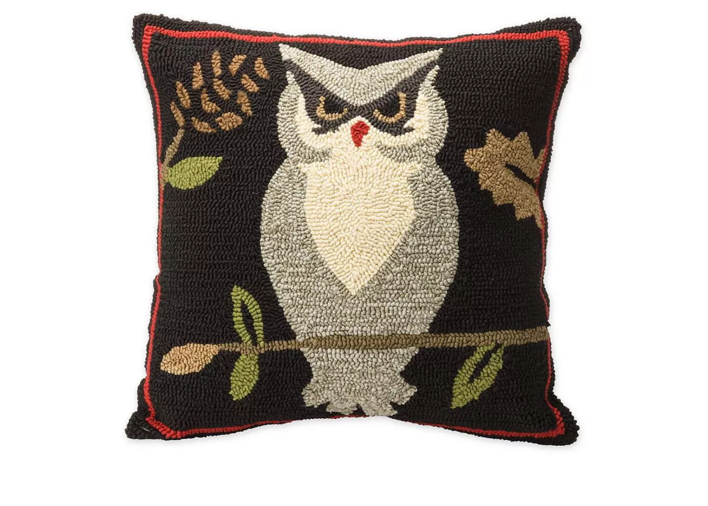 Woodland Decorative Throw Pillow With Owl Plow & Hearth