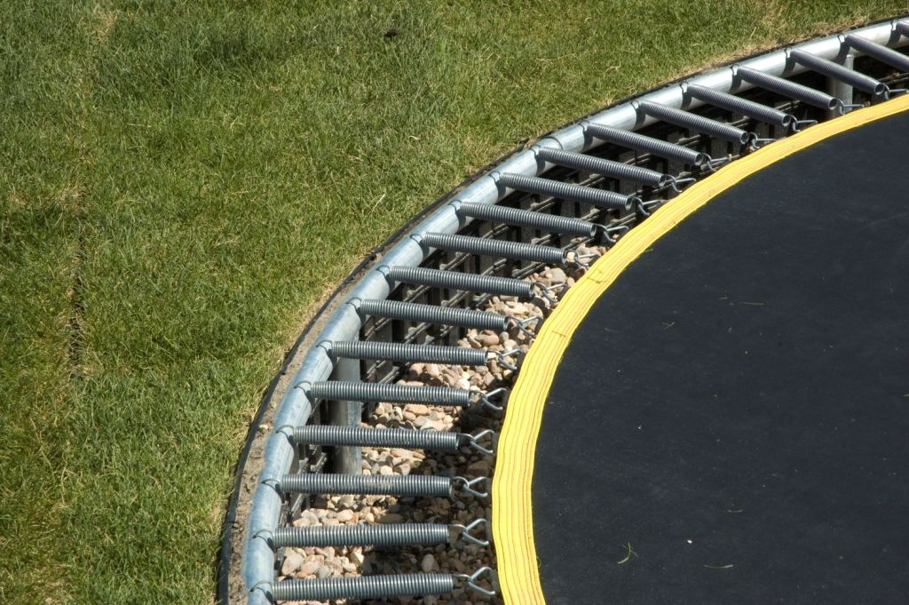 The nitty gritty about building your own sunken trampoline for How to put a trampoline in the ground