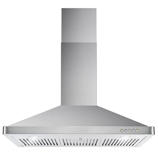 Cosmo 36 In Ducted Stainless Steel Wall Mounted Range Hood Lowes Com In 2020 Steel Wall Wall Mount Range Hood Range Hood