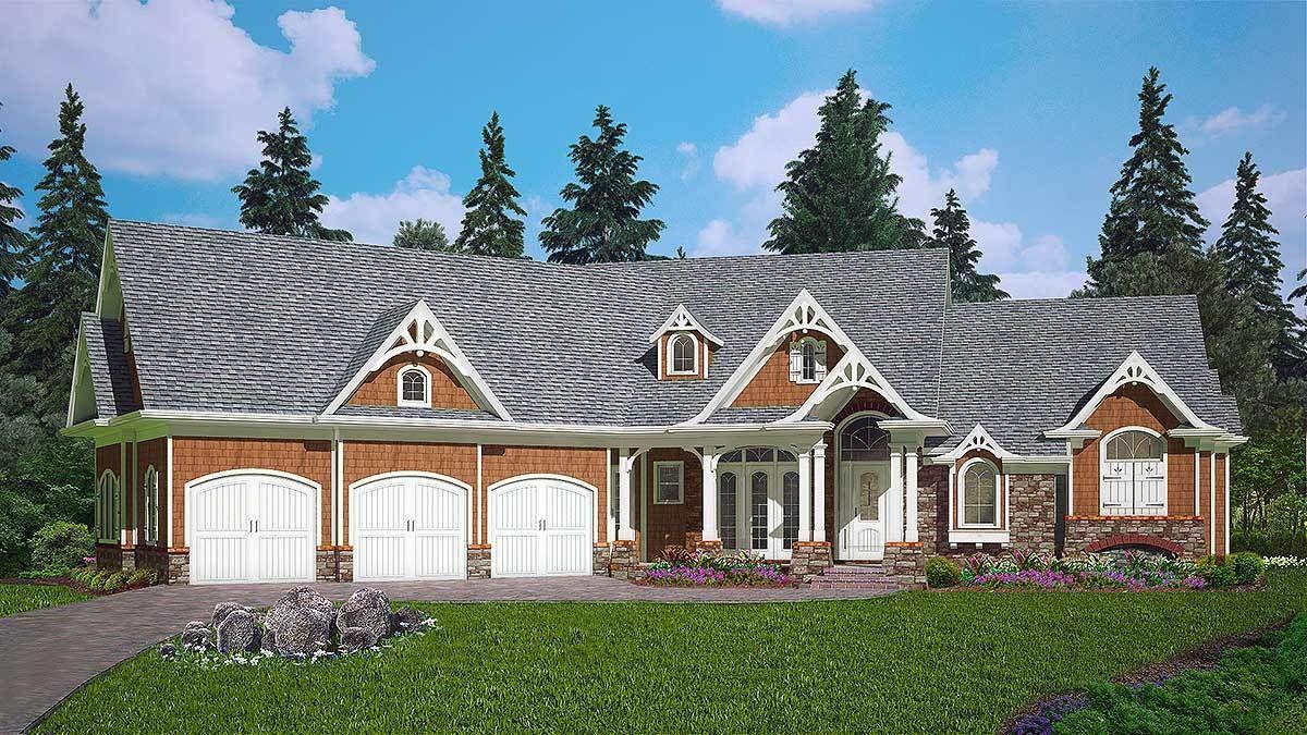 Plan 25615GE Gorgeous Craftsman House Plan with