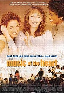 Music of the Heart..  ..inspired by a true story about teacher Roberta Guaspari, who made natl. headlines, teaching underprivileged children how to play the violin..  ..a story which definitely pulls at the heart strings..