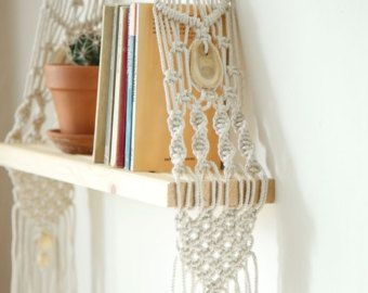 Macrame shelf | Etsy | Macrame | Wall hanging shelves ...
