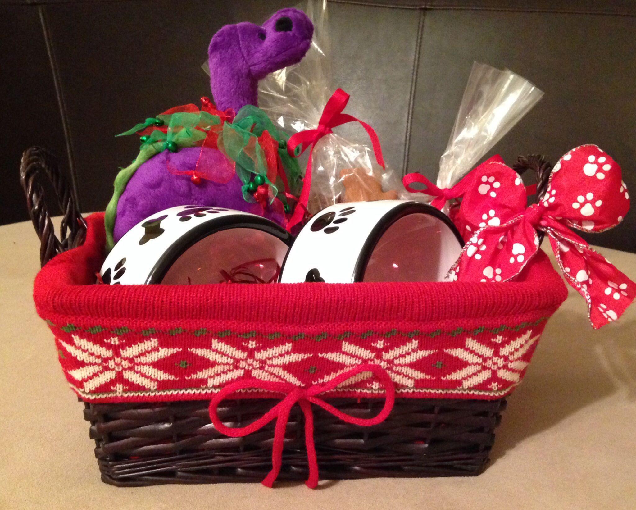 """Dog Bowl /""""Basket/"""" a gift basket for dogs"""