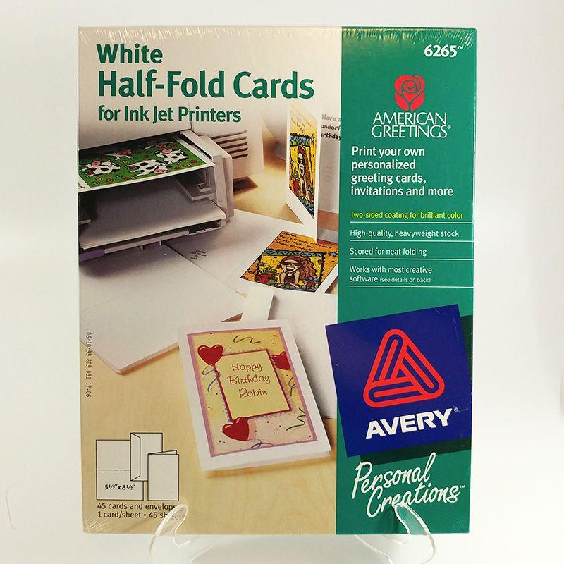 Avery half fold greeting cards 6265 inkjet printers box of 45 with avery half fold greeting cards 6265 inkjet printers box of 45 with envelopes avery m4hsunfo