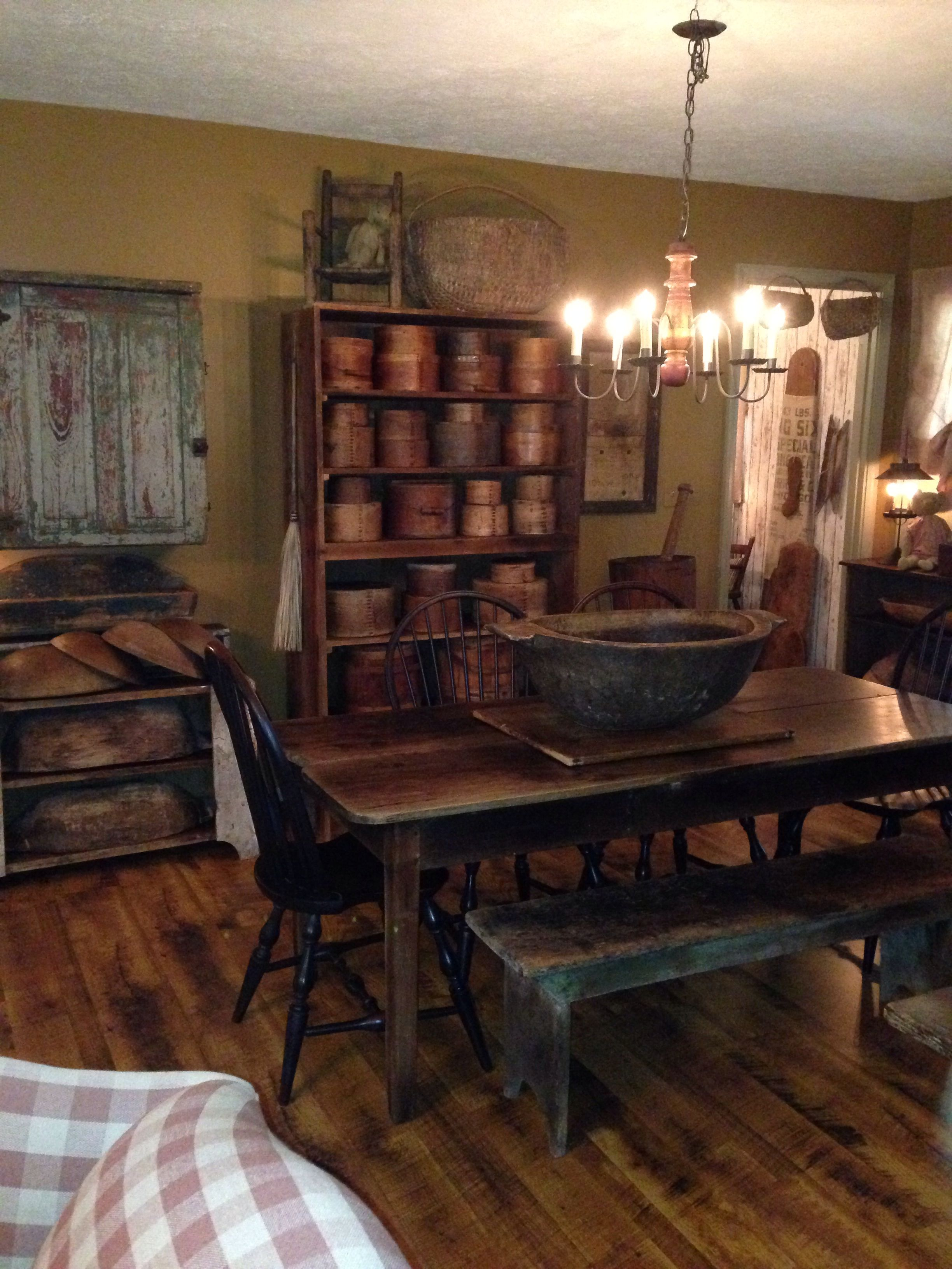 primitive dining room sets   Windsor chairs   rooms I like   Primitive homes, Primitive ...