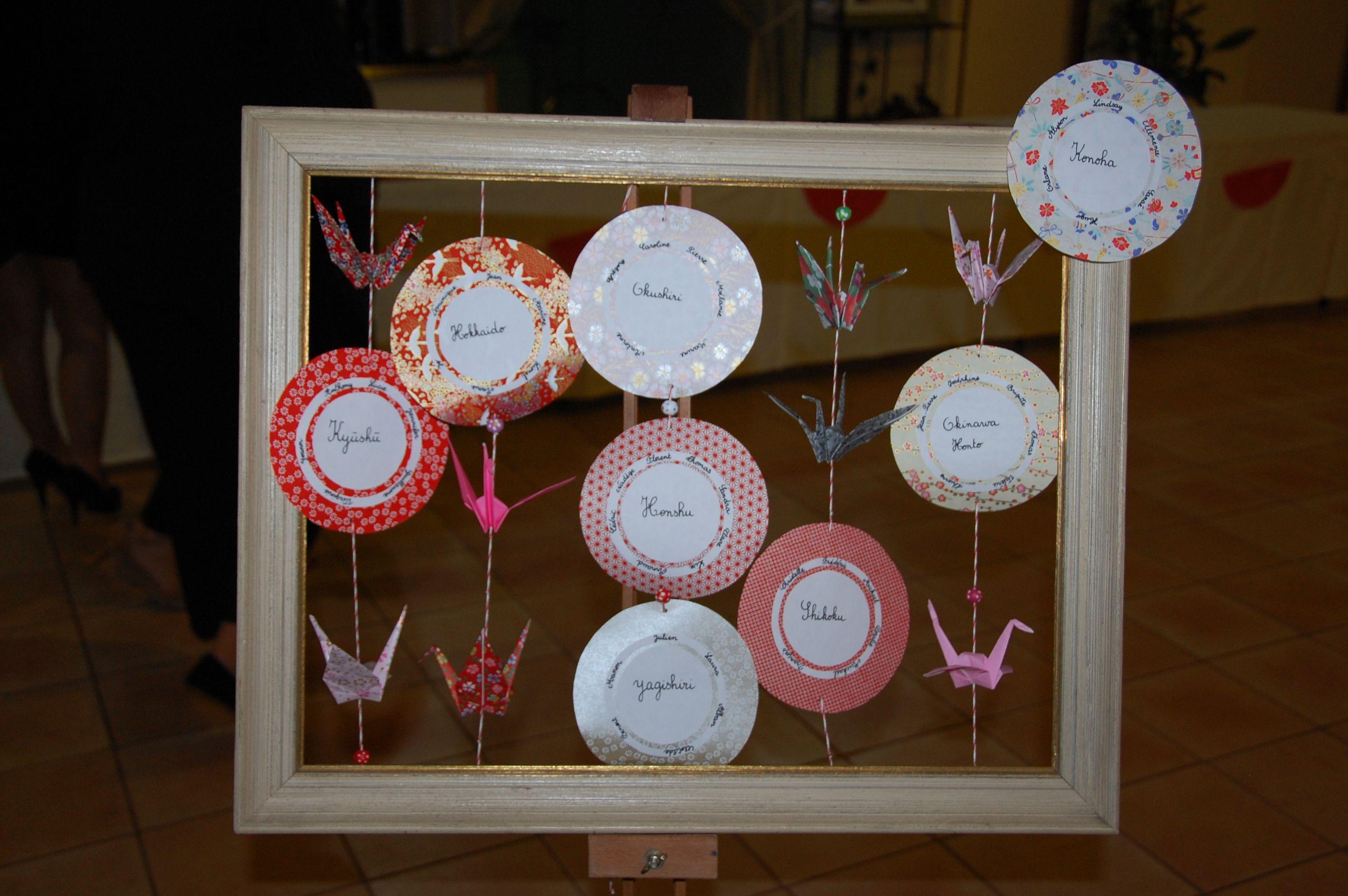Plan de table mariage th me japon mariage th me japon ma for Table design japon