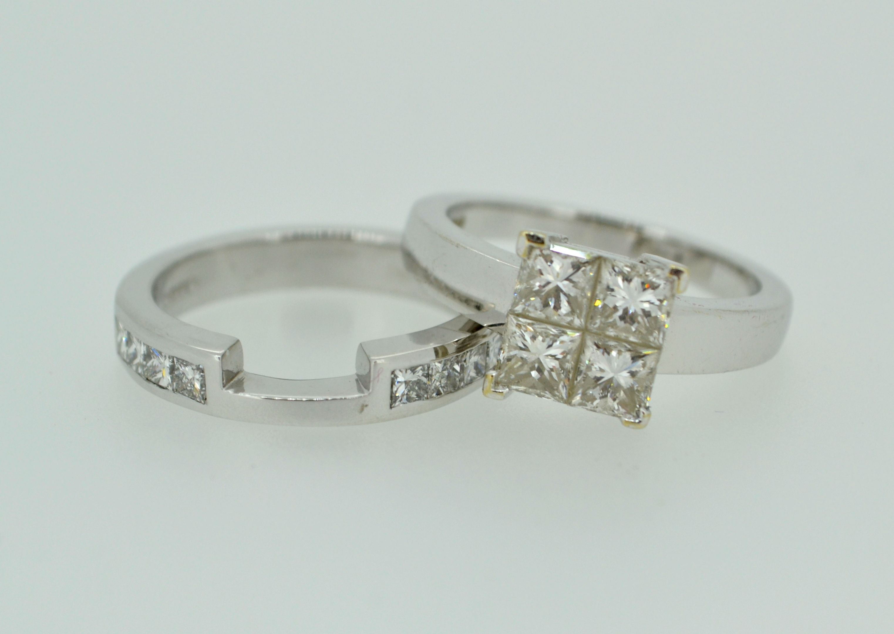 A bespoke wedding ring to match this lovely diamon ring