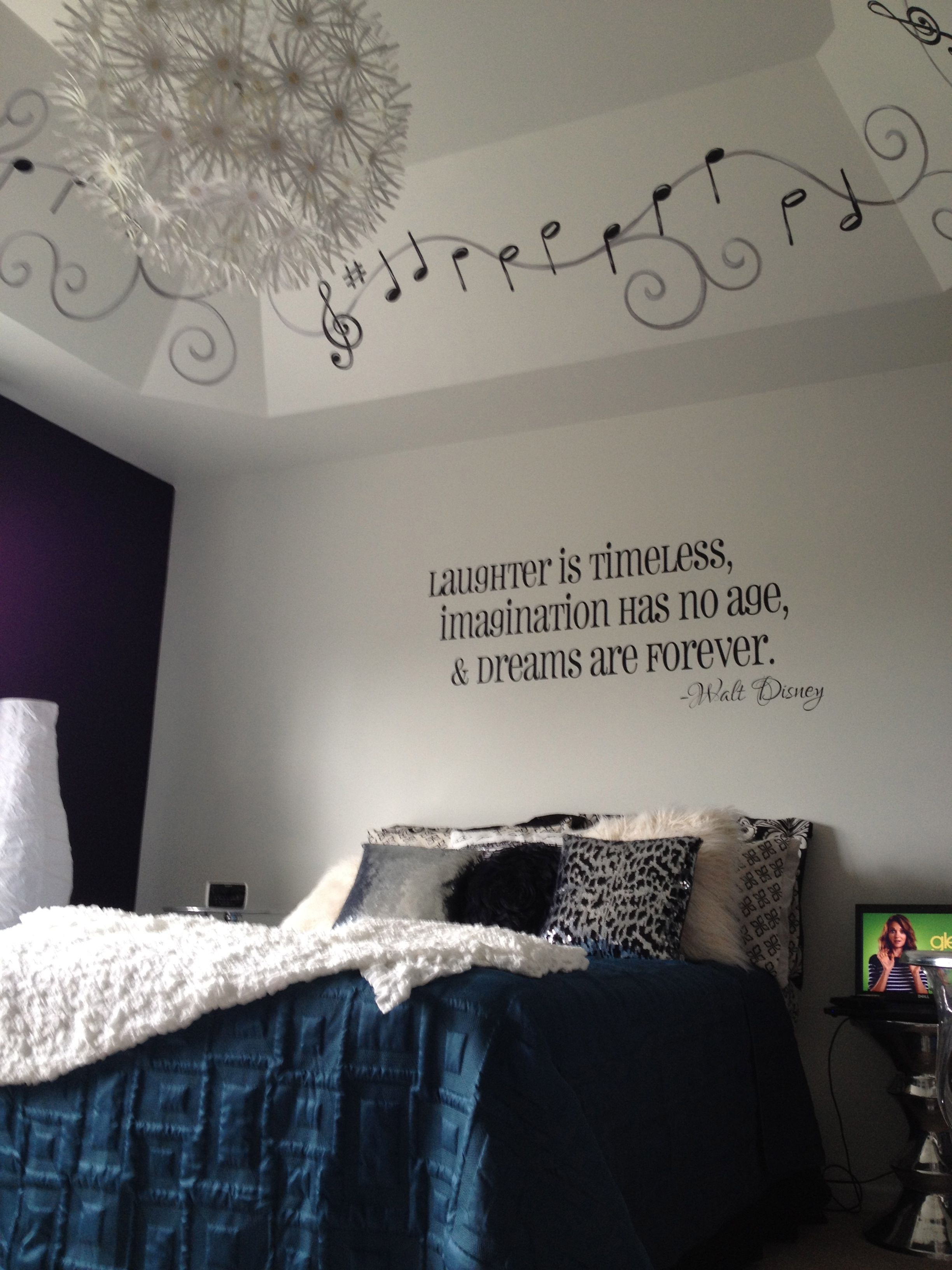 Bedroom christmas lights quotes - Mommy Daughter Teen Bedroom Project