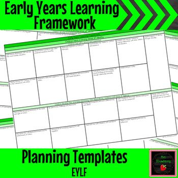 Eylf planning templates editable school classroom professional these editable early years learning framework planning templates will make your planning simple maxwellsz