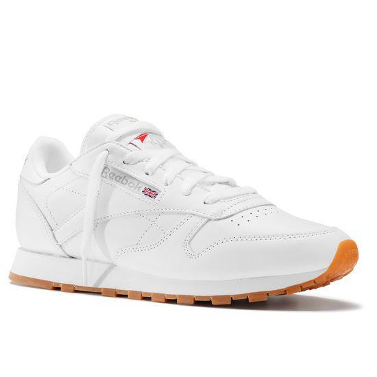 sequía Descompostura Permanente  Classic Leather - White | Leather sneakers, Reebok classic, Classic leather