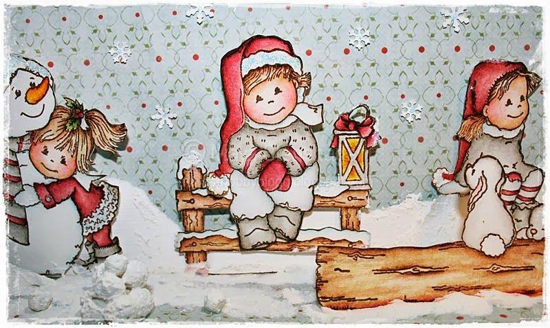 GD Kreativ Scrapping - Rød Jul/Red Christmas
