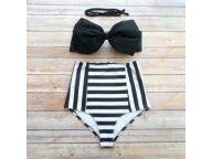 Stroj Kapielowy Boho Wysoki Stan Kokarda R L Stylish Swimsuits Vintage Swimwear High Waist Stylish Swimsuits Bikinis