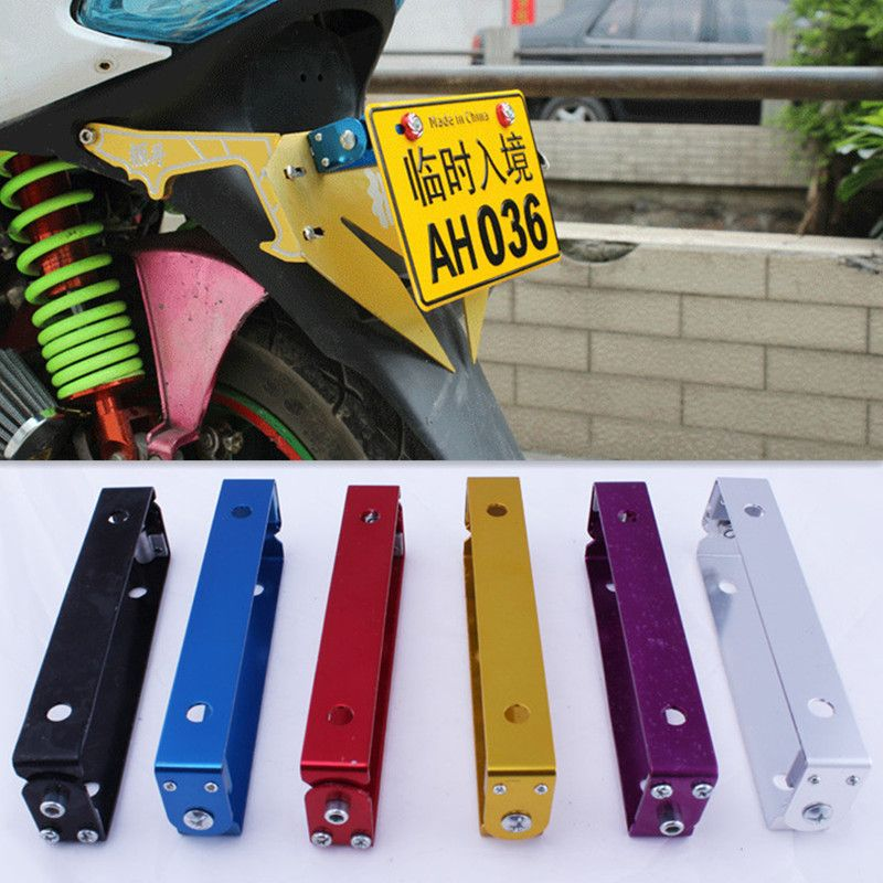Universal Adjustable Angle Motorcycle Moped Scooter License Number